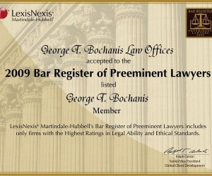 Bar register of Preeminent lawyers award